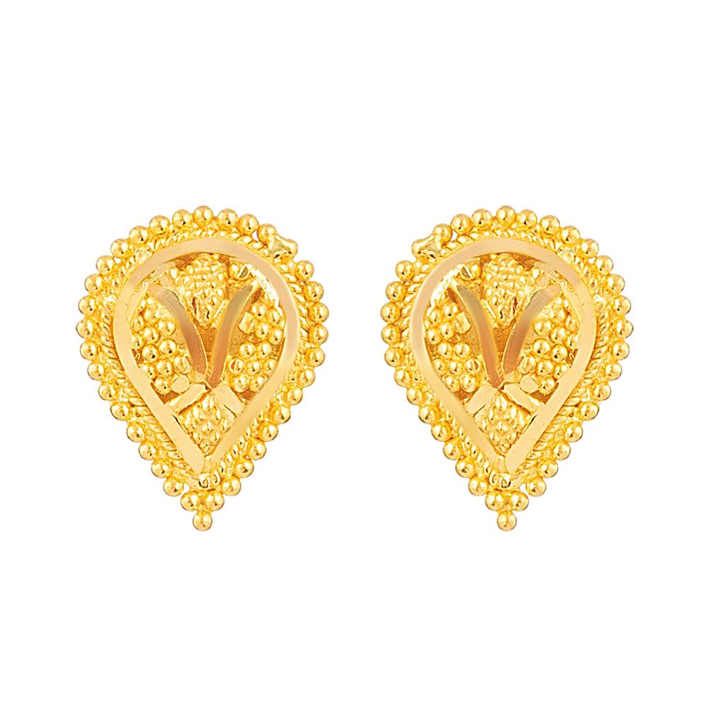 Jali 22ct Light Stud Earring JLER639