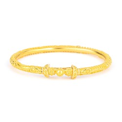 Jali Collection 22ct Gold Bangle 17.6gm