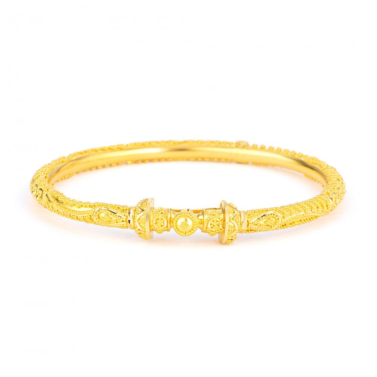 Jali Collection 22ct Gold Bangle with Screw JLBG645