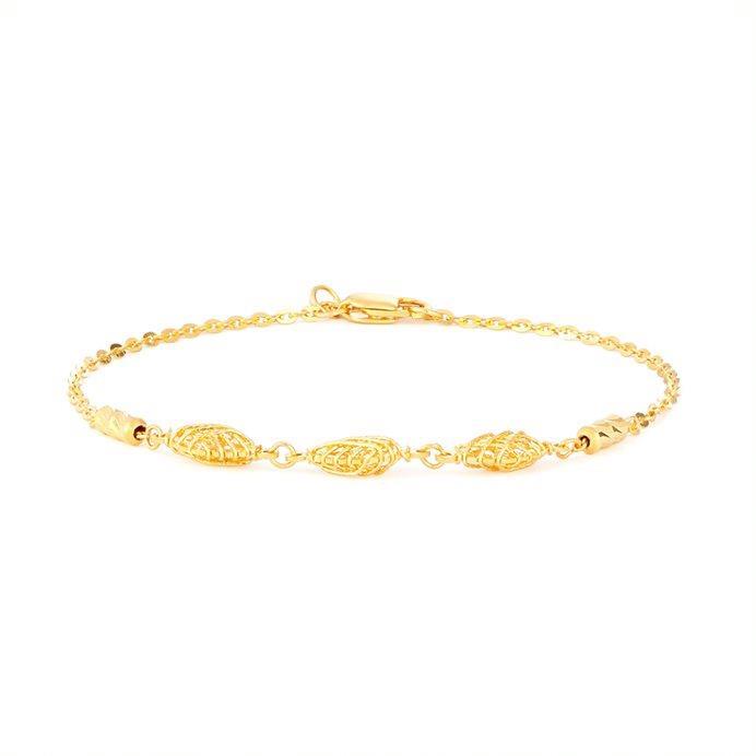 22ct Gold Ladies Bracelet Jali Beads YGBR127
