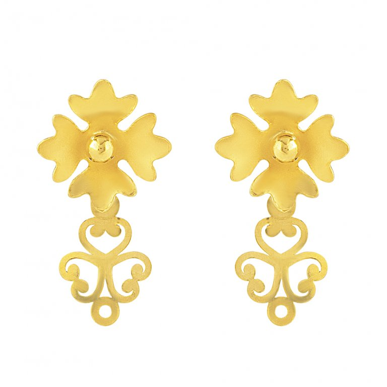 22ct Gold Earring 1.3gm