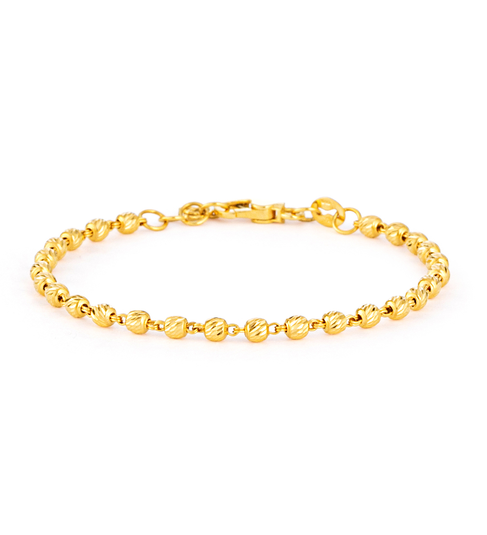 22ct Gold 3mm Bracelet - 33045-1