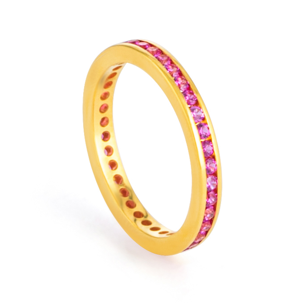 22ct Gold CZ Ring 33224-01
