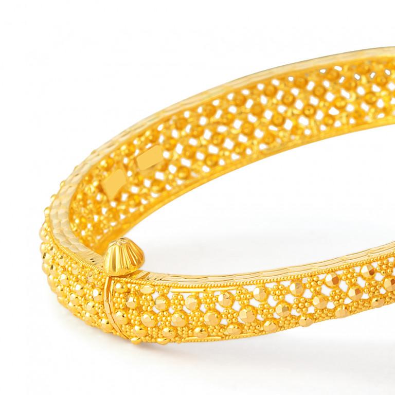 22ct Gold Bangle 33451-02