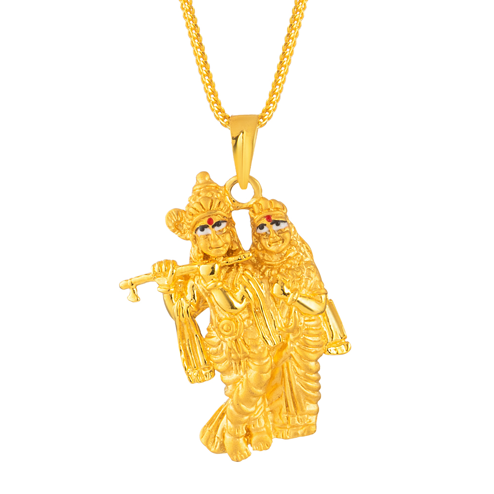 22ct Gold Radha Krishna Pendant 33472