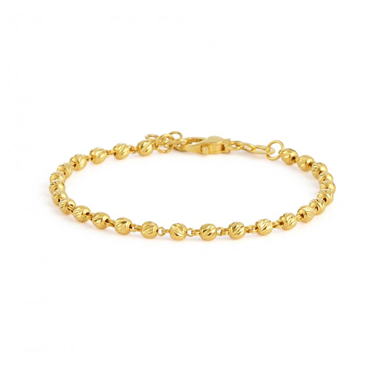 Glow Collection 22ct Gold Ladies Bracelet 3.6gm
