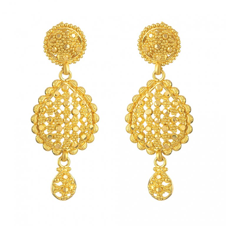 Jali Collection 22ct Gold Earring 9.2gm