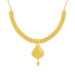 Jali Collection 22ct Gold Necklace 29.8gm