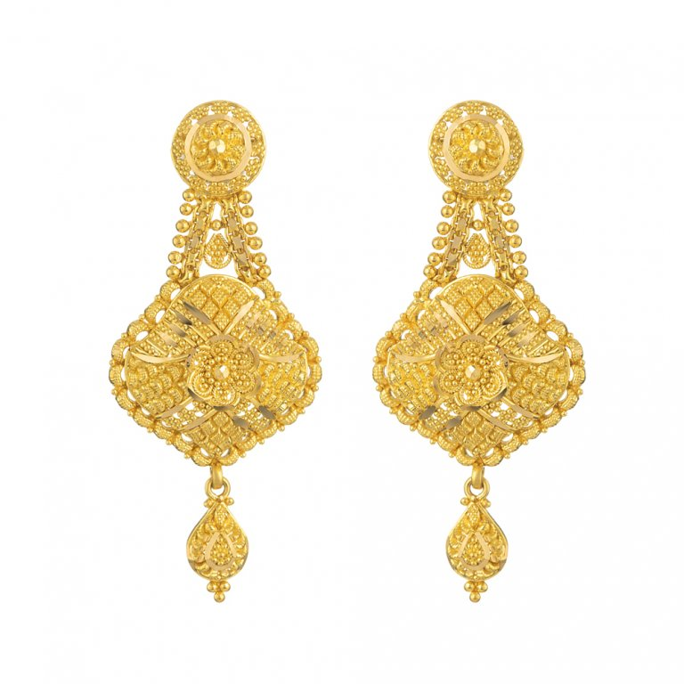 Jali Collection 22ct Gold Earring 10.8gm
