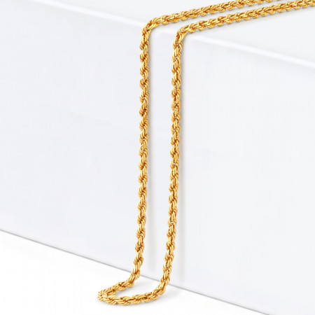 22ct Gold Rope Chain  33026-1