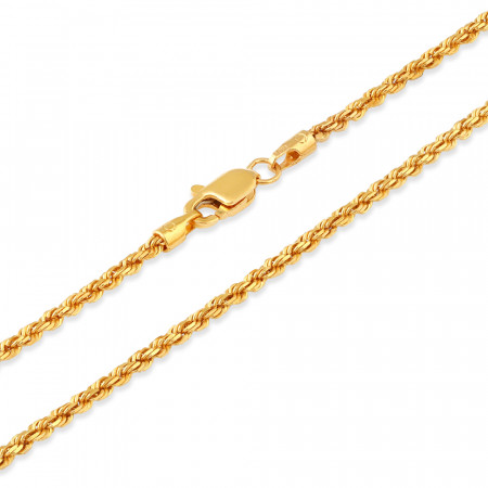 22ct Gold Rope Chain 33026-2