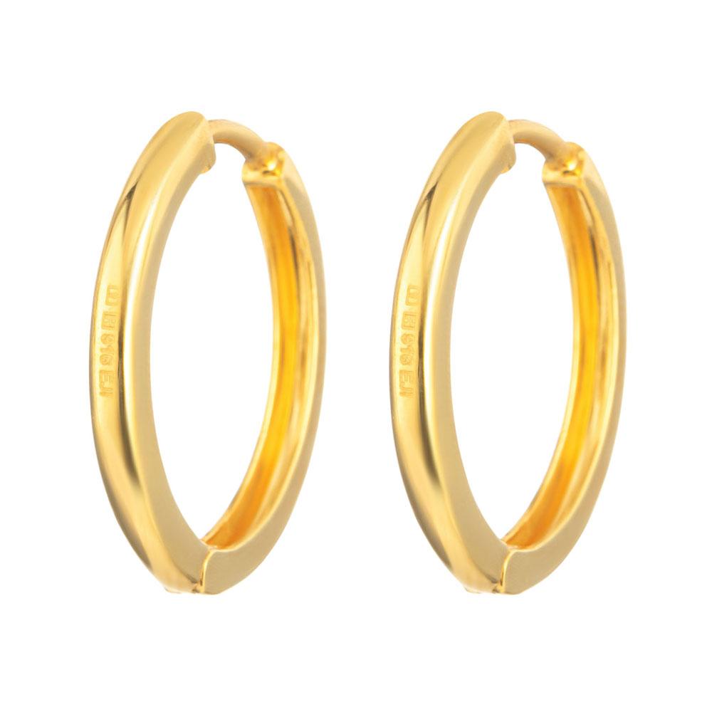 22ct Gold Plain Bali Earring