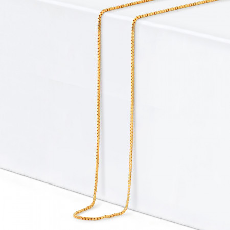 22ct Gold Box Chain 33032-1