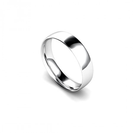 Platinum 5mm Traditional Court Wedding RIng Band