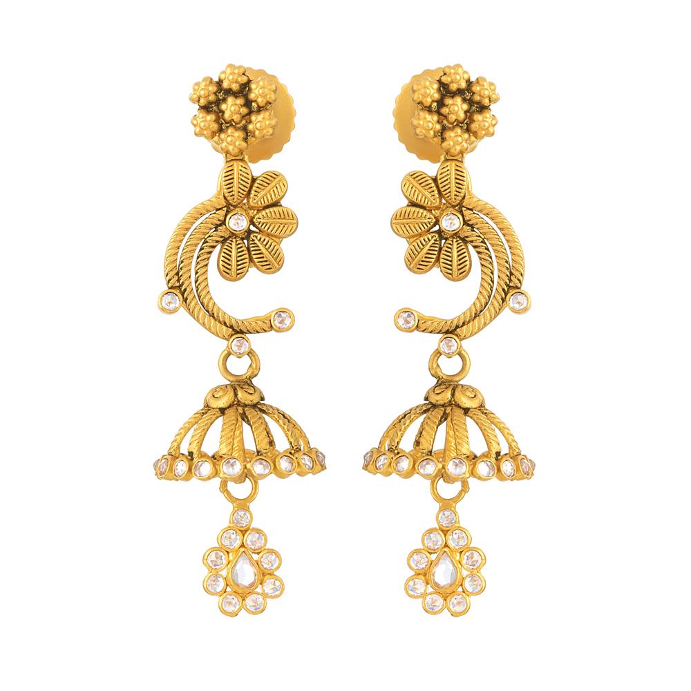 22ct Gold Jumkha Earring