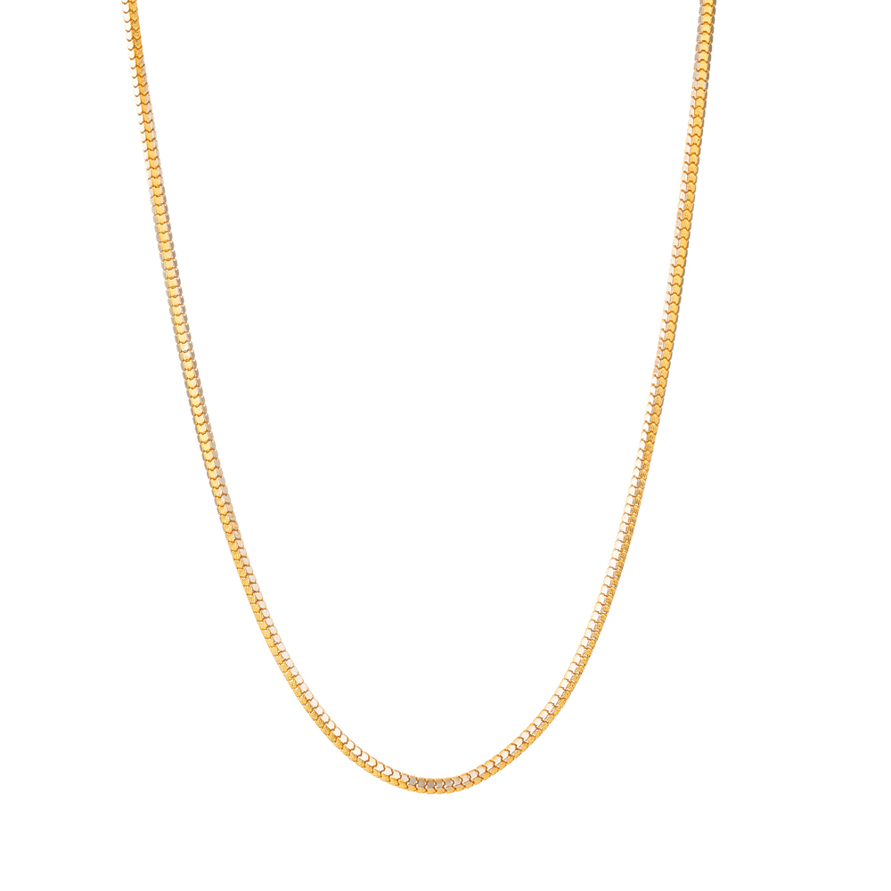22ct Gold Box Chain in 18 Inches - 33634 -22ct Gold Box Chain in 18 Inches - 33634