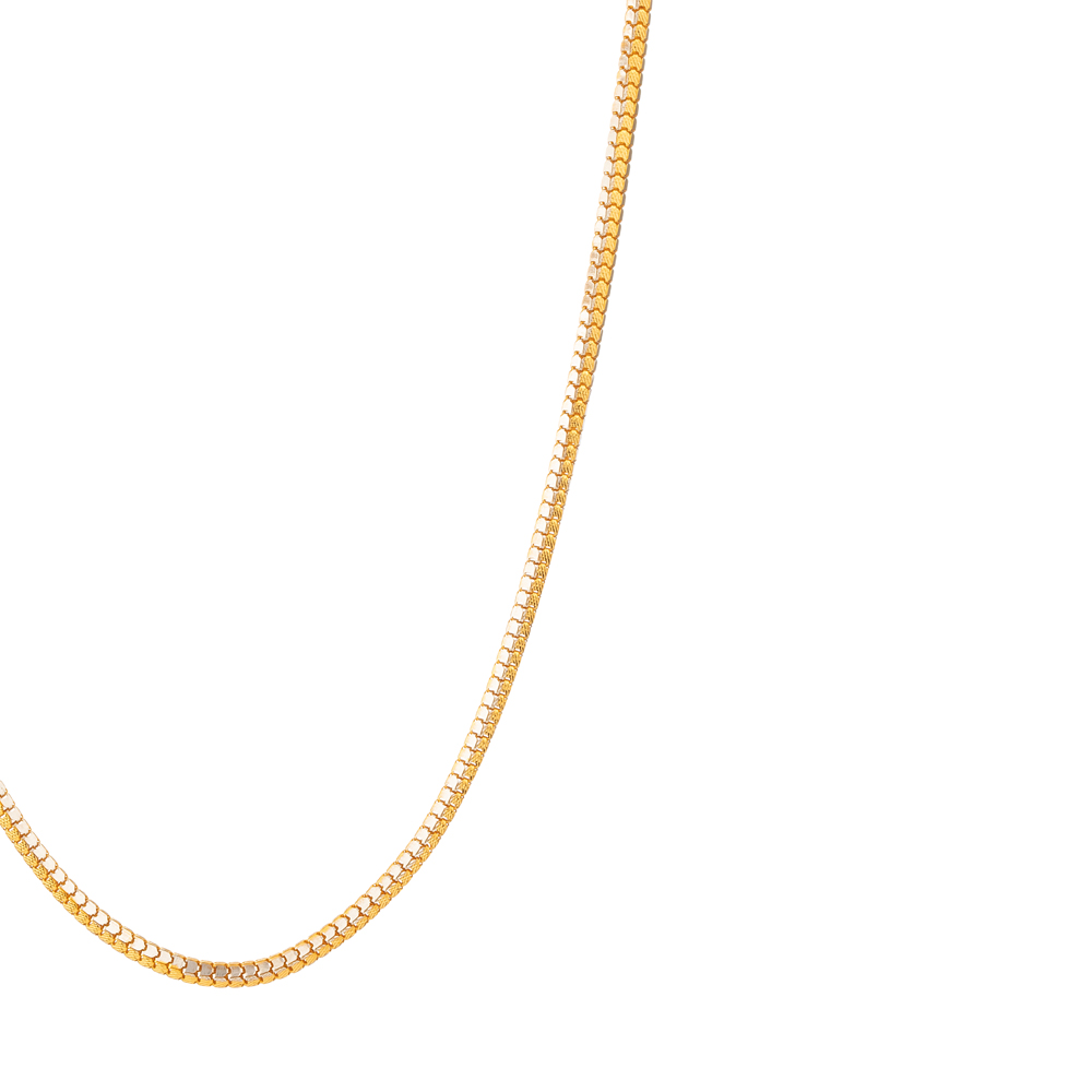 22ct Gold Box Chain in 18 Inches - 33634 -22ct Gold Box Chain in 18 Inches - 33634 -2