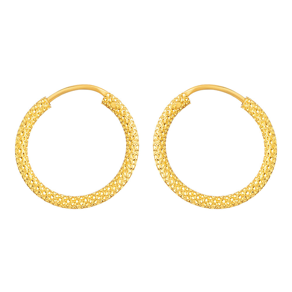 22ct Gold Bali Earring - 33669