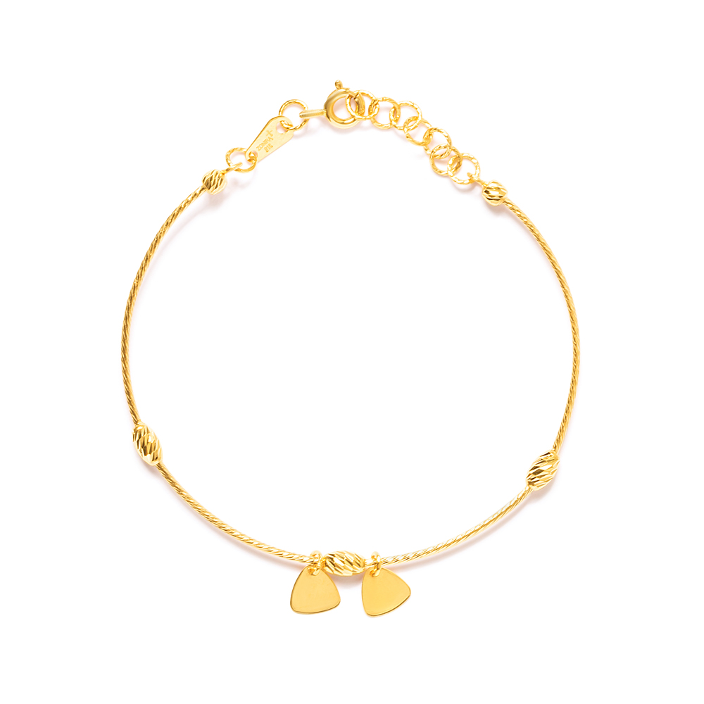 22ct Gold Bracelet with Leaf Charms 33691