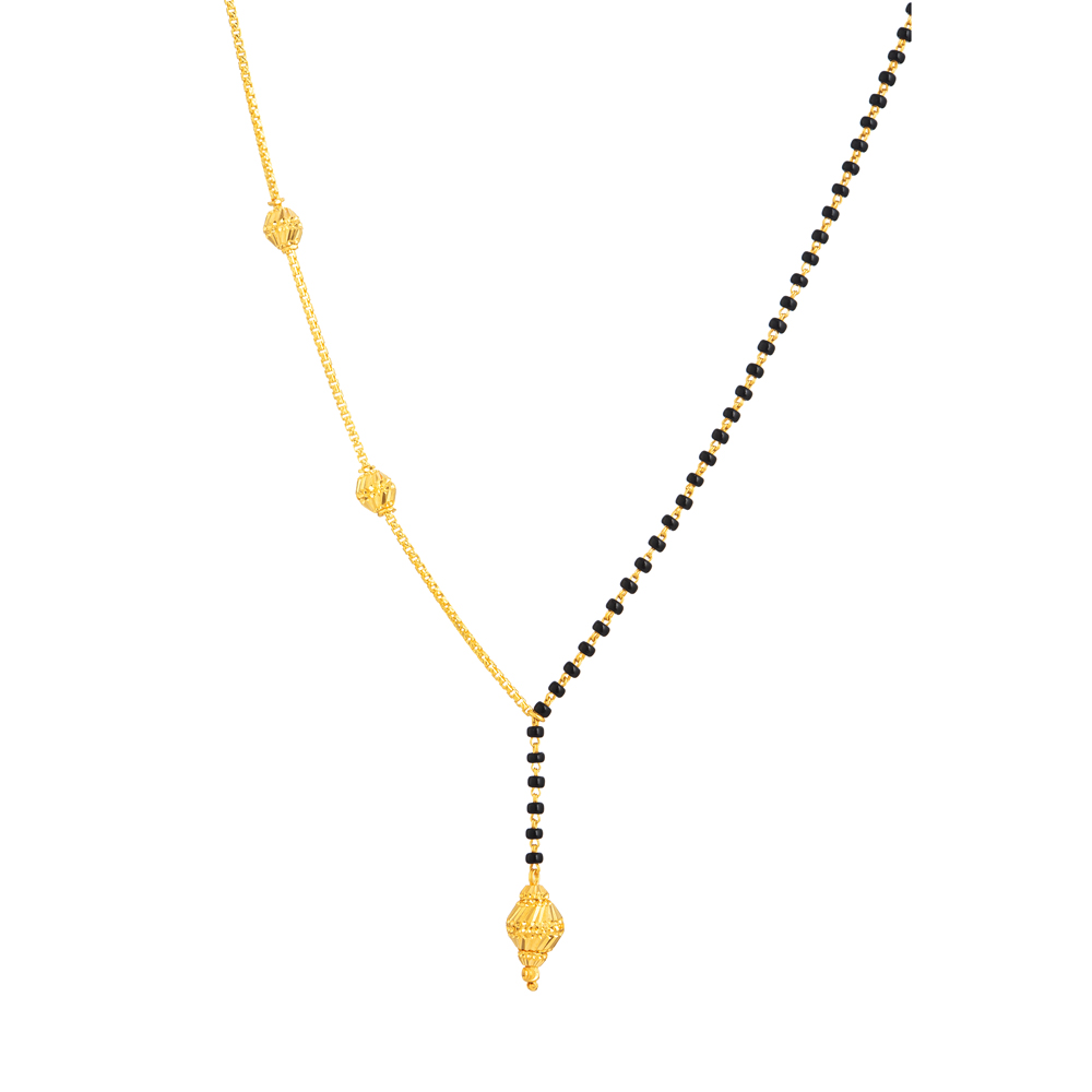 22ct Real Gold Mangalsutra - 33730