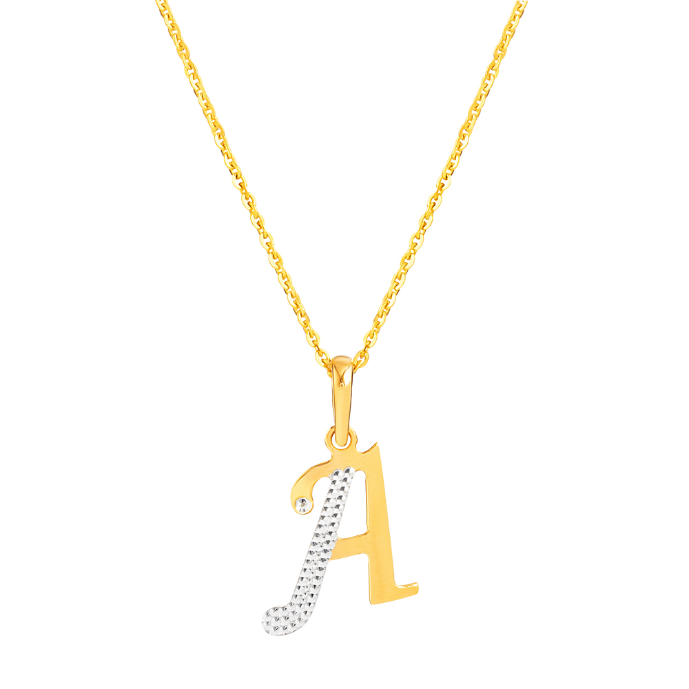 22ct Gold Initial A Pendant