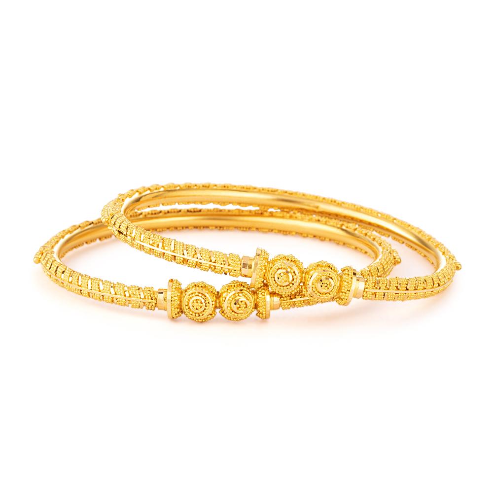 Jali Collection 22ct Gold Kadas 33796