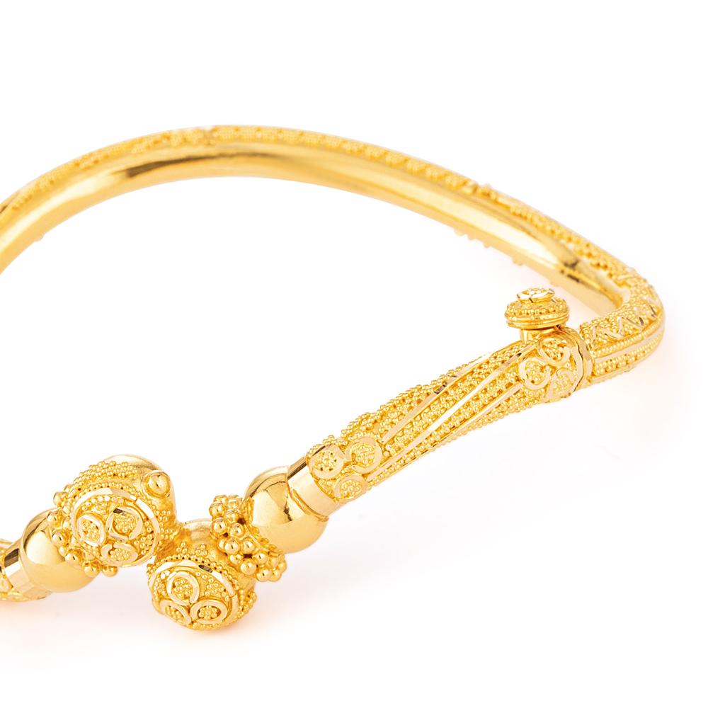 22ct Gold Jali Bangle Kada