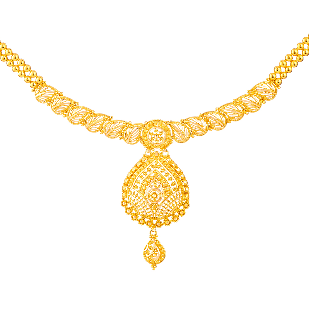Jali Collection 22 carat Gold Necklace