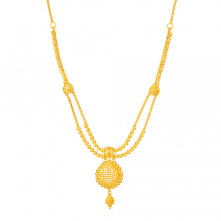 Jali Collection 22ct Gold Do Ladda Haar