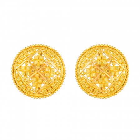Jali Collection 22ct Gold Earring – 33824