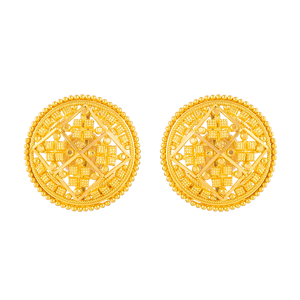 Jali Collection 22ct Gold Earring - 33824