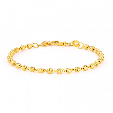 Glow Collection 22ct Gold Ladies Bracelet 4.8gm