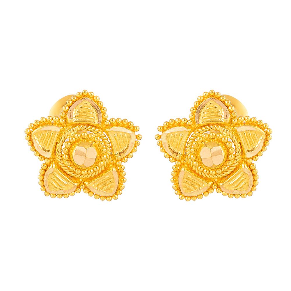 22ct Gold Stud Earring