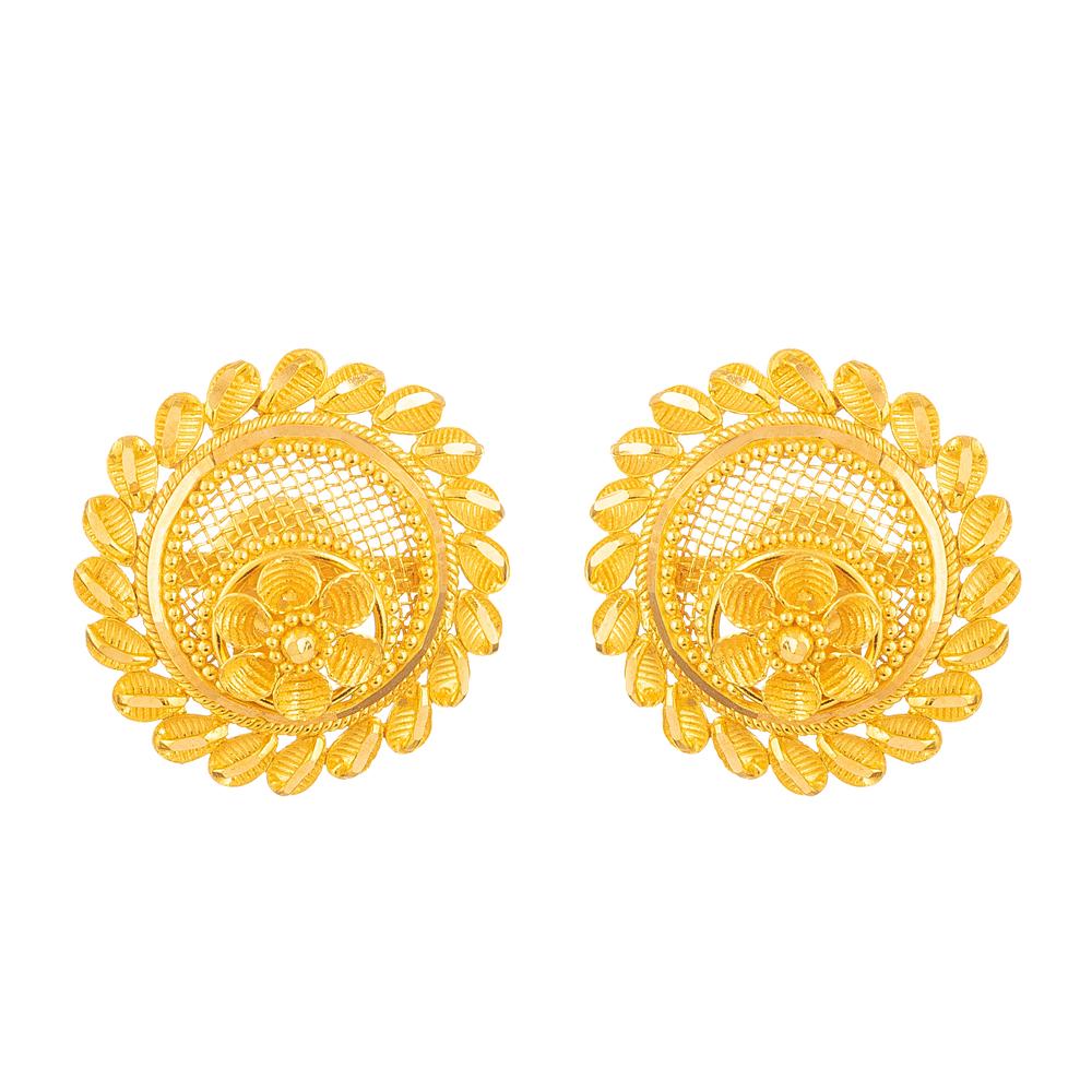 22 Carat Gold Filigree Earring - 28687