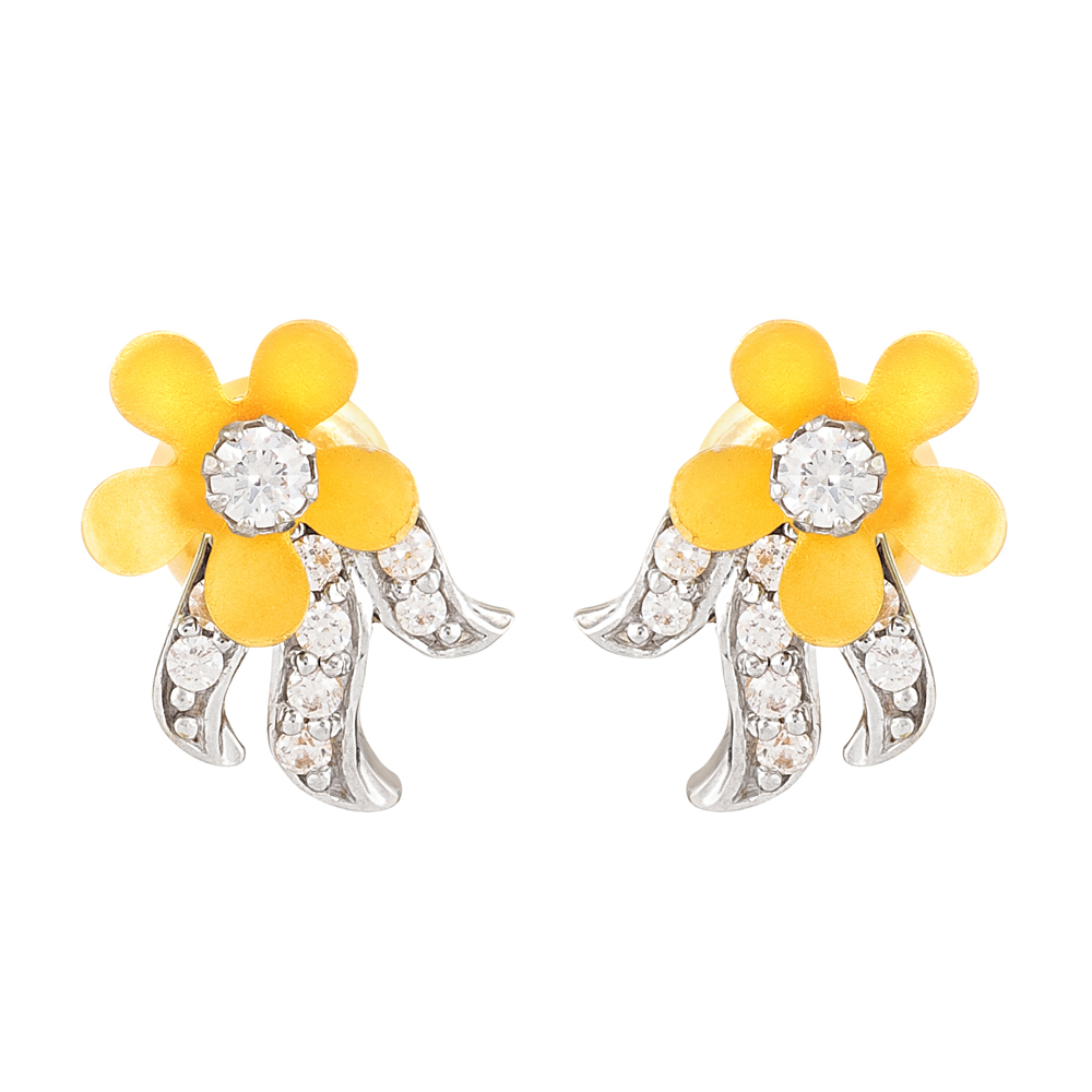 22ct Gold Earring with CZ Stones - 28791