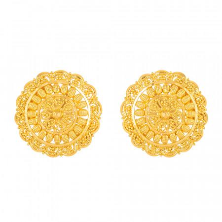 22kt Gold Stud Earrings – 33825
