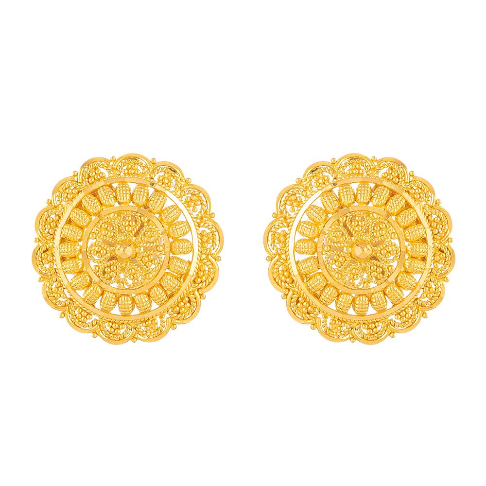 22kt Gold Stud Earrings - 33825