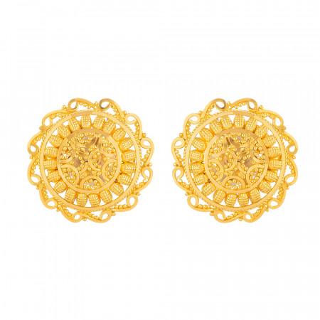 Gold Stud Earrings – 33829