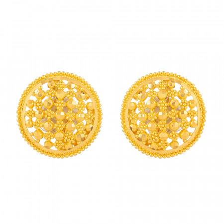 Jali 22ct Gold Stud Earring – 33831