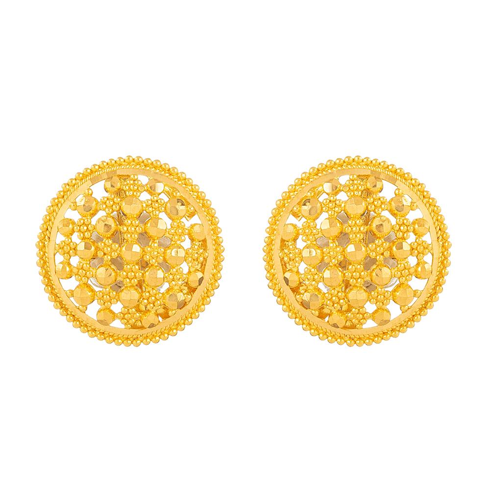 Jali 22ct Gold Stud Earring - 33831
