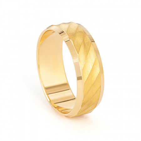 Men's 22ct Gold Wedding Ring – 33852 – 1