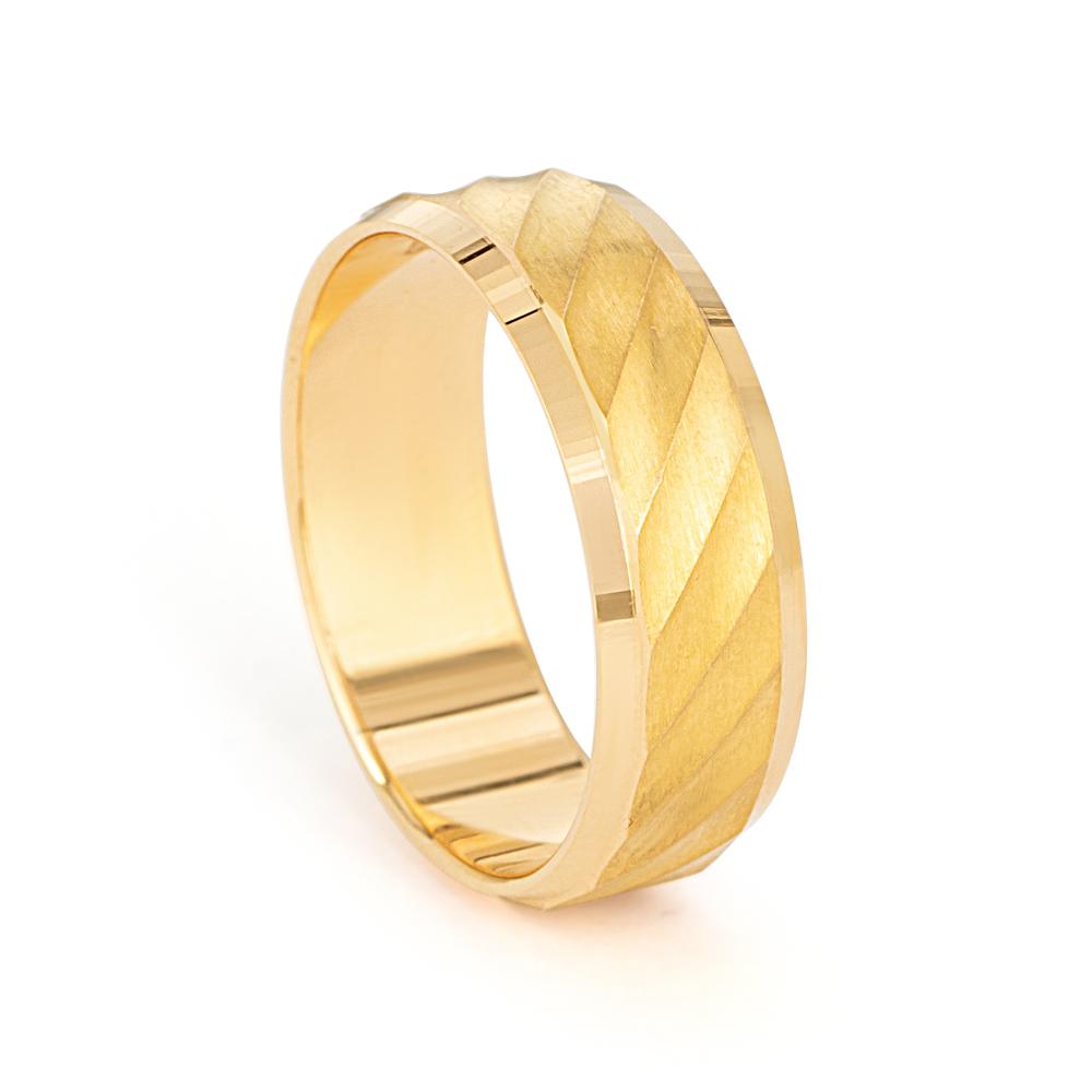 Men's 22ct Gold Wedding Ring - 33852 - 1