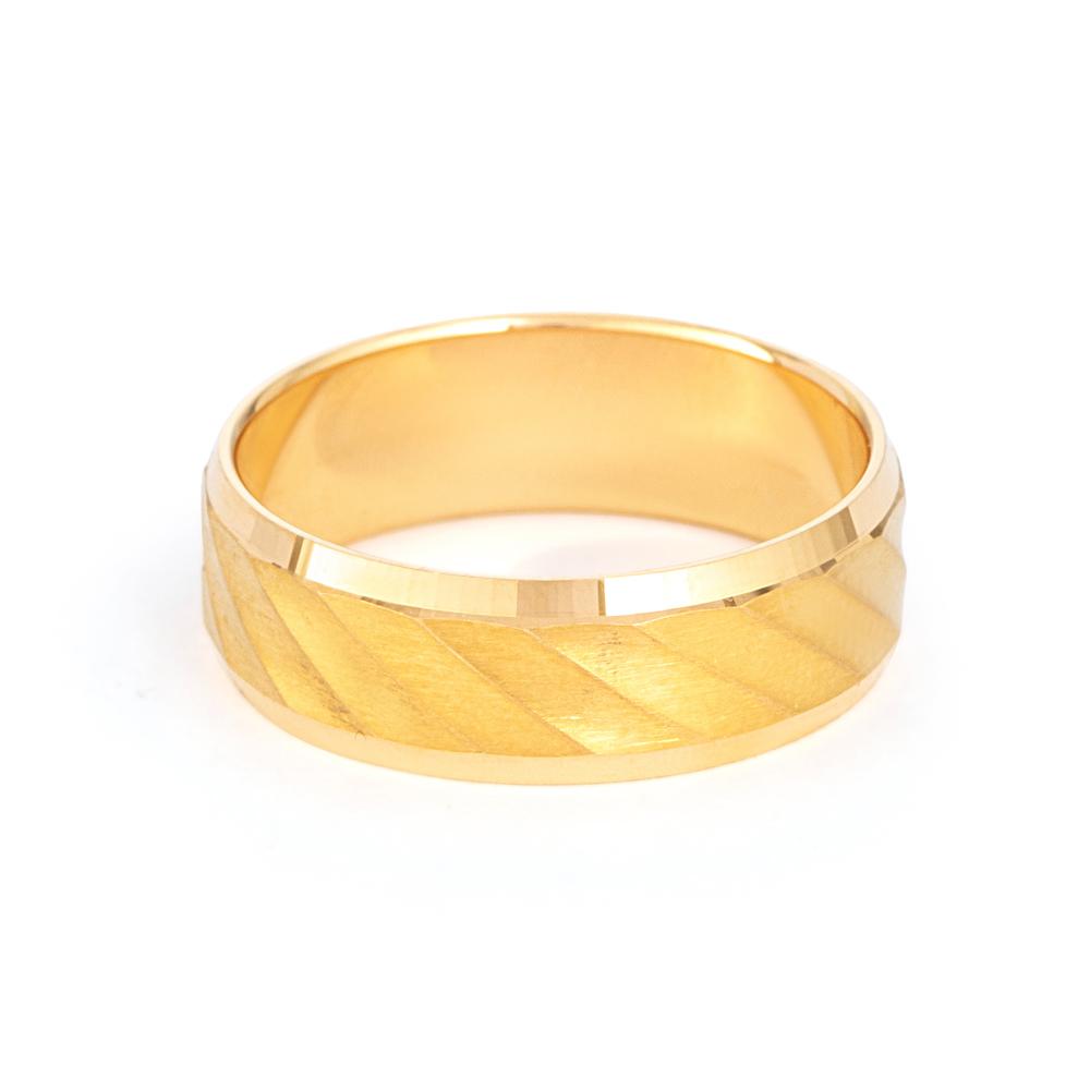 Men's 22ct Gold Wedding Ring - 33852 - 2