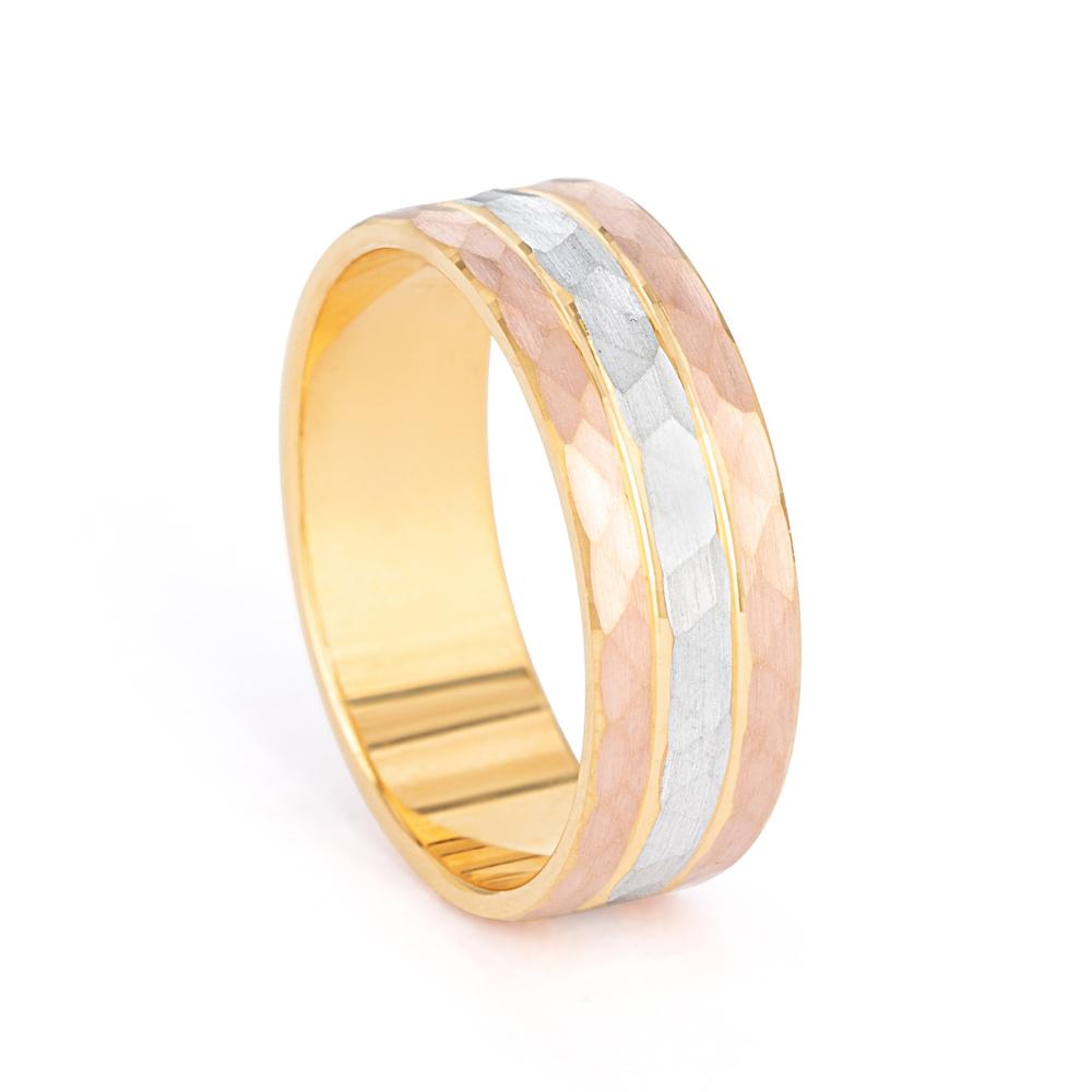 22 carat Real Gold Band Ring - 33854 - 1