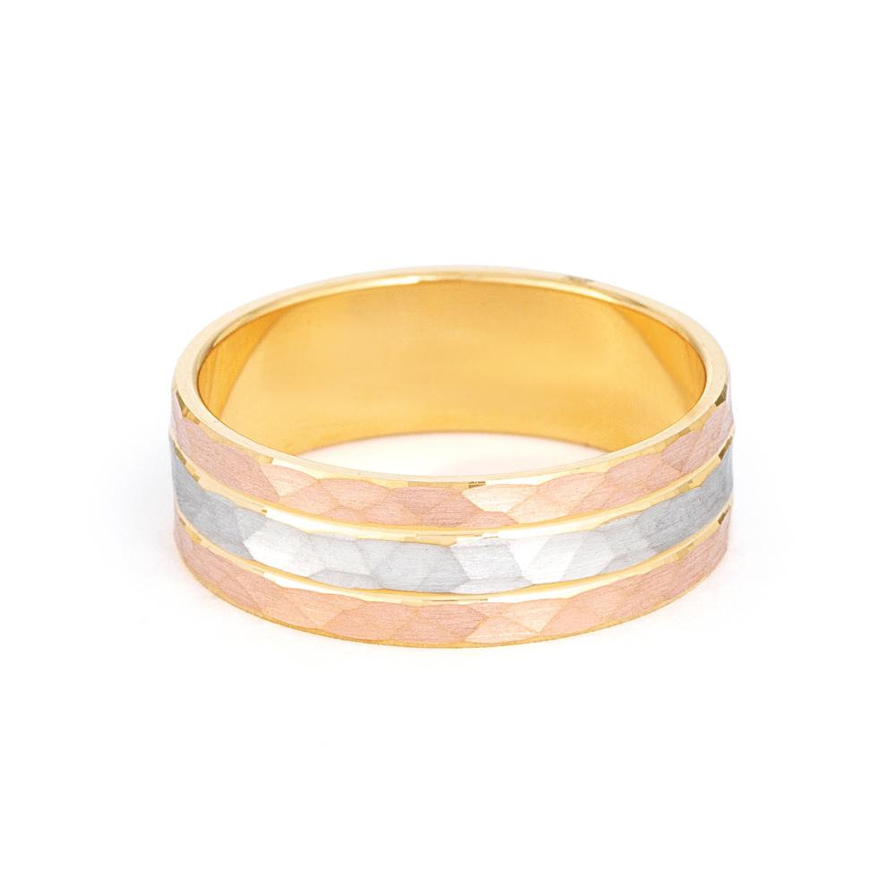 22 carat Real Gold Band Ring - 33854 - 2