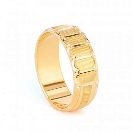 22ct Gold wedding Ring Band – 33855-1