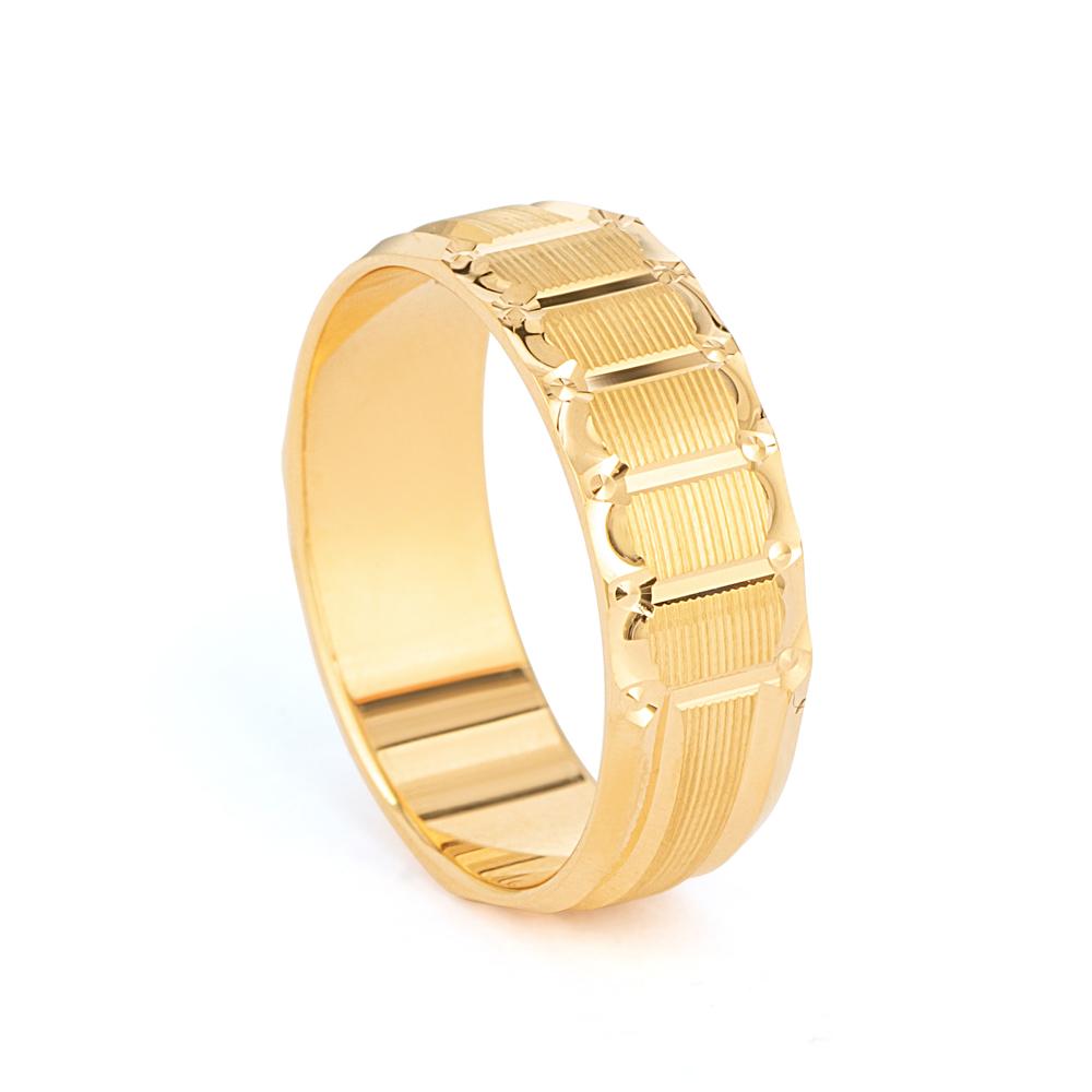 22ct Gold wedding Ring Band - 33855-1