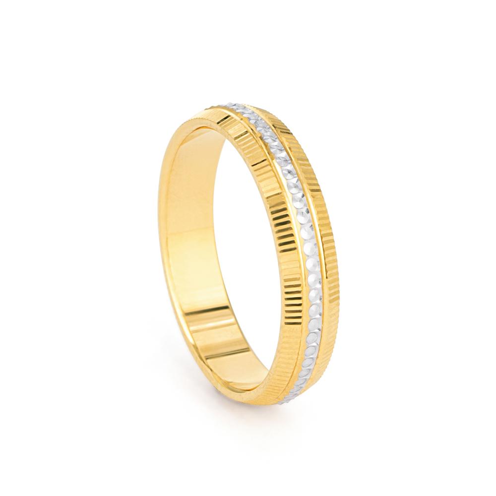 22ct Yellow Gold Women's Wedding Band - 33857-1