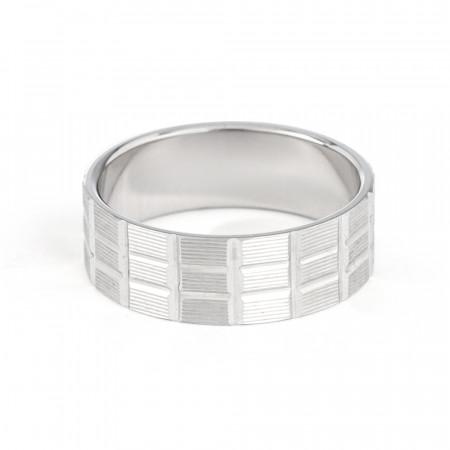 Platinum Wedding Band-33858-2
