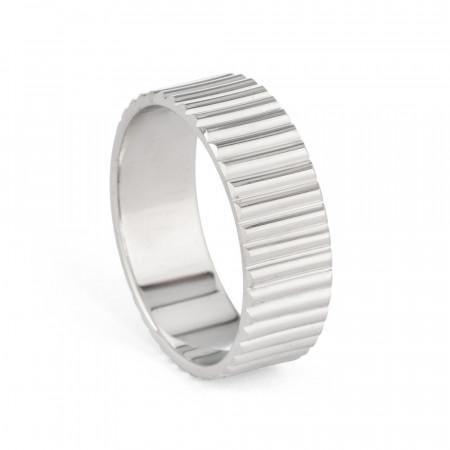 Men's Platinum Wedding Band – 33861 -1
